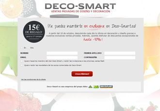 el grupo adeo lanza su plataforma de ventas privadas y decoraci n en espa a deco smart. Black Bedroom Furniture Sets. Home Design Ideas