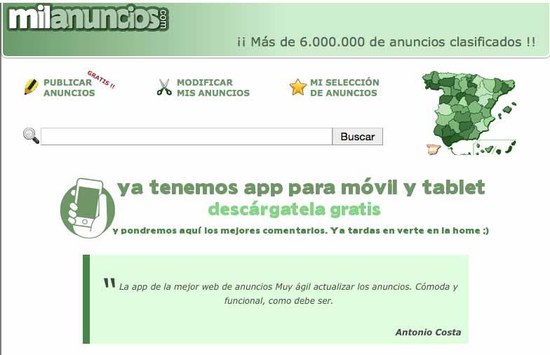 MilAnuncios Pantallazo app