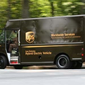 UPS-furgon