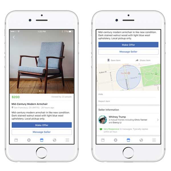 Facebook anuncia el lanzamiento de Marketplace, nuevo servicio para competir con eBay y Wallapop - Ecommerce News