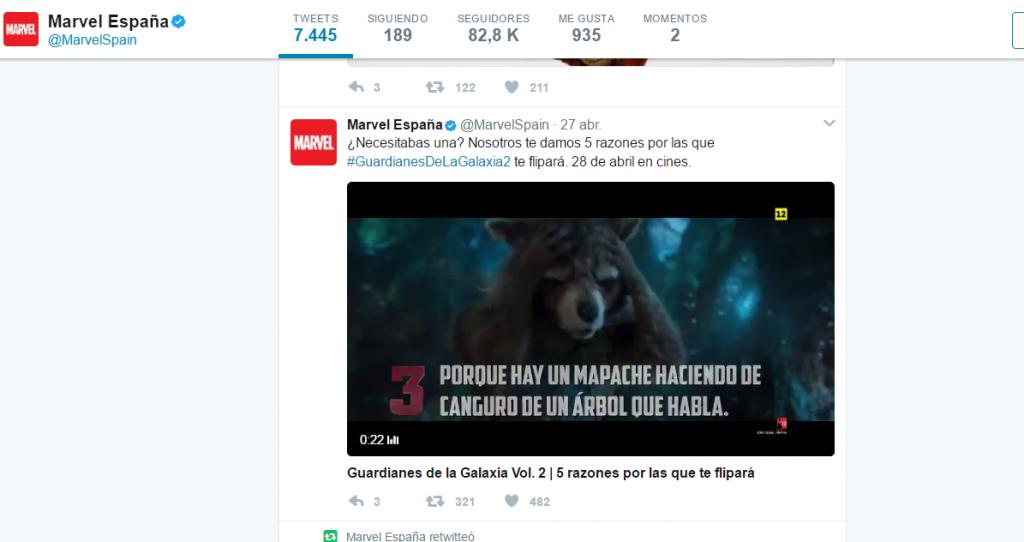Marvel en Twitter