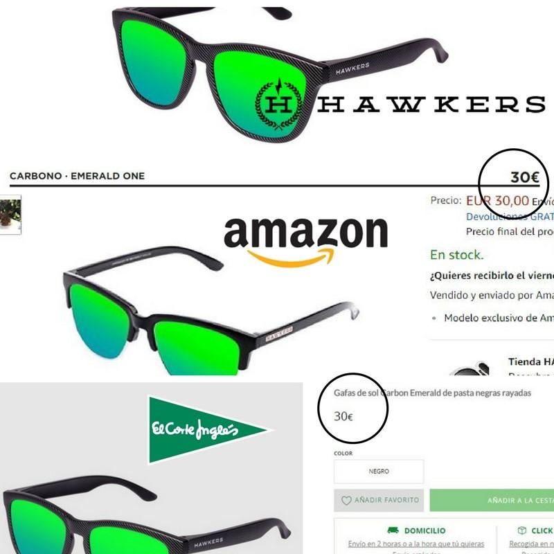 012d4cb298 Las compres en El Corte Inglés, Amazon o en la propia tienda online de  Hawkers, los precios no varían. Ejemplo de ello: