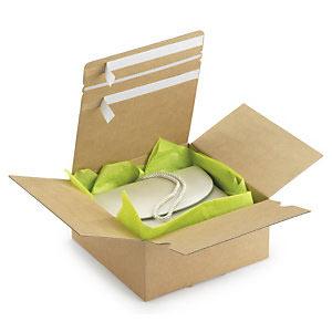 3d9c6f243 Las cajas y las bolsas de ida y vuelta tienen un doble cierre adhesivo  dentado, así, al abrirse, se puede volver a realizar un envío eficaz.